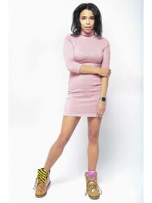 Мини платье-водолазка ZAIN. 5233443