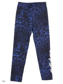 Тайтсы YG P LIN TIGHT HIRBLU/BLACK/WHITE Adidas 5244406