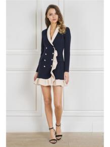 Платье-пиджак с воланом Self Made 5269968