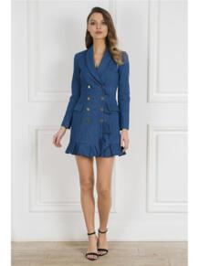 Платье-пиджак с воланом Self Made 5324373