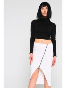 Ассиметричная юбка с молнией ZAIN. 5398961