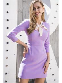 Платье с бантом Self Made 5403153