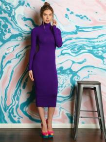 Платье водолазка из вискозы FIRMA 5416587