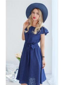 Платье с воланом Befamilylook 5662158