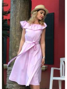 Платье с воланом Befamilylook 5662160
