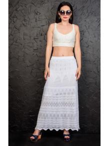 Юбка длинная, 100% хлопок, для лета, юбка в пол, вязаная юбка LANAMORADA 5755801