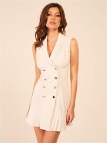 Платье-пиджак без рукавов Self Made 5900693