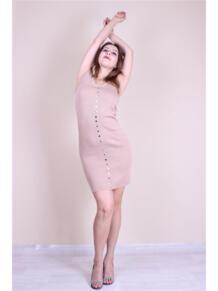 Трикотажное платье с кнопками EMMY 5973141