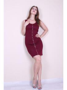 Трикотажное платье с кнопками EMMY 5973142