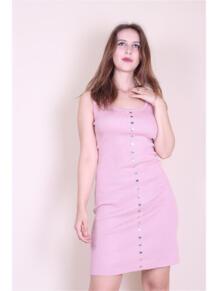 Трикотажное платье с кнопками EMMY 5973143