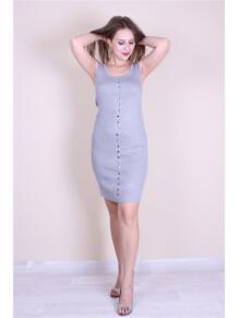 Трикотажное платье с кнопками EMMY 5973144