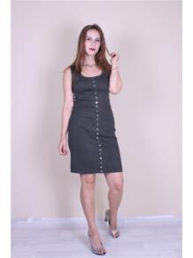 Трикотажное платье с кнопками EMMY 5973145