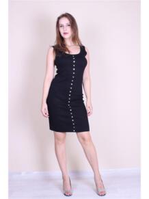 Трикотажное платье с кнопками EMMY 5973146