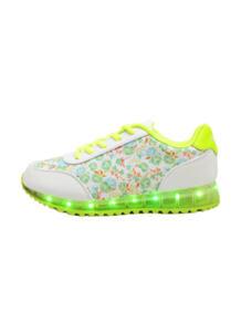 Светящиеся кроссовки Flower с зарядкой от USB Luminous Shoes 6127703
