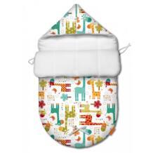 Конверт для новорожденного демисезонный Жирафы Ququbaby 1177148