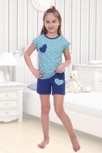 Пижама детская Маша (ментоловая) рр Инсантрик 54364