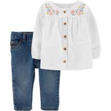 Комплект : туника и джинсы Carter`s 12246329