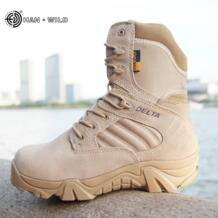 Мужские ботинки в стиле милитари, зимние кожаные ботинки высокого качества для работы|boots boots|boots men militaryboots military - AliExpress HAN WILD 32818953497