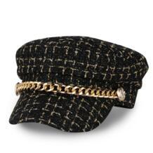 Новая ветрозащитная шапка для женщин Ретро шерстяная Женская темно синяя военная шляпа модный плоский берет Кепка зима осень Французский стиль кепка газетчика-in Мужская газетчик шапки from Аксессуары для одежды on AliExpress - 11.11_Double 11_Single YISUYA 4000189715685
