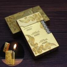 Яркий звук кремневая каменная газовая зажигалка шлифовальный круг резная Бутановая Зажигалка металлическая Бесплатная пожарная Зажигалка гаджеты для мужчин Спички    - AliExpress OAAPAAQ 4000303076924