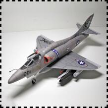 1:33 США A 4 Skyhawk самолет DIY 3D бумажная карточка модель Конструкторы строительные игрушки развивающие игрушки Военная Модель-in Комплект для сборки модели машины from Игрушки и хобби on AliExpress - 11.11_Double 11_Singles' Day umfinger 4000186242750