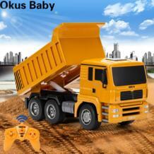 2019 новейший четырехколесный самосвал с ДУ пластиковый грузовик Радиоуправляемый автомобиль игрушки для детей подарки на день рождения Радиоуправляемые грузовики    АлиЭкспресс yuanlebao 4000238466118