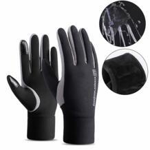 Новые модные перчатки с сенсорным экраном для спорта на открытом воздухе перчатки для бега мужские зимние теплый флис для походов перчатки для катания на лыжах водонепроницаемые велосипедные перчатки-in Перчатки для бега from Спорт и развлечения on A FAVSPORTS 32960129779