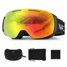 NACATIN для мужчин женщин УФ Анти-Туман Лыжные очки Съемный двойной объектив большая Лыжная маска очки Лыжный спорт снег сноуборд очки No name 32752608954