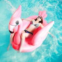 150 см Гигантский Надувной розовый Фламинго бассейн поплавок с крыльями летние пляжные вечерние игрушки для взрослых для плавания Ring Rafts Boia Piscina No name 32975526798