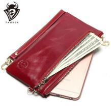 2019 Новый Для женщин бумажник мини маленькая сумочка кожаная простые кожаные рука схватив портмоне мобильного карман для телефона TAUREN 32530098430
