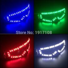 2017 светодиодный очки светящиеся очки вечерние для вечеринок танцевальные Клубные реквизит сценические костюмы Хэллоуин освещение светодиодный светодиодные перчатки YEAHUI EL 32823830558