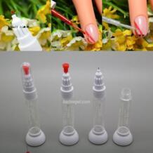 Kimcci 100 шт./лот пунктирная ручка + рисования кисточка для дизайна ногтей Инструменты 2 в 1 игольчатая щетка двойного назначения лак для ногтей ручка пустая бутылка No name 1851559082