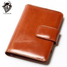 Пояса из натуральной кожи для женщин короткие Винтаж кошелек паспортный чехол масла Воск женский бумажник кошелек бренд дизайн высокое качество TAUREN 32254009923