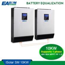 Источник питания Easun 10KW солнечный инвертор 80A MPPT решетки инвертор 48 В 220 чистая синусоида гибридный инвертор с 60A батарея зарядное устройство EASUN POWER 32568113269