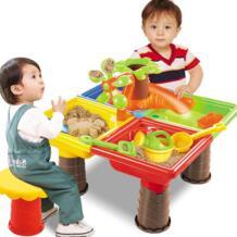 Летний детский Песочник набор пляжный Песочник стол вода открытый сад играть Лопата инструмент игрушка для детей Fuuny MINOCOOL 32950558837