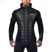 Мужская повседневная куртка с капюшоном теплая ветрозащитная дышащая Светоотражающая одежда костюм для зимних спортивных упражнений на открытом воздухе куртка для бега HimanJie 32962517455