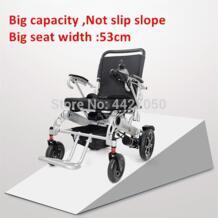 2019 большое сиденье wides: 53 см; стильный высокое качество складной легкий и удобный очень широкий Электрический инвалидной коляске No name 33019458414