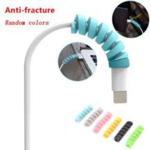 Спиральный кабель для передачи данных 10 шт. USB Saver чехол для Apple iPhone 8 X Lightning No name 32955322070