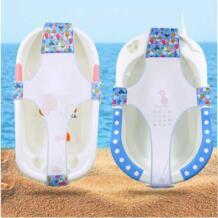 Для ухода за ребенком, регулируемый для душа шторы для ванной ванна детская ванна с сеткой безопасности сиденье Поддержка MOONBIFFY 32944217953