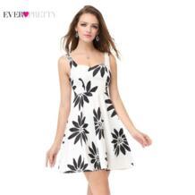 Цветочный принт 2019 Ever Pretty Homecoming платья Элегантное без рукавов милое выше колена ТРАПЕЦИЕВИДНОЕ летнее простое Vestido AS05476 32994687538