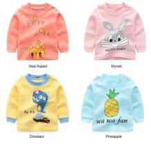 Детские хлопковые футболки с длинными рукавами для мальчиков, Детская рубашка с героями мультфильмов для девочек, одежда для малышей, свитер для мальчиков на осень и весну IMSHIE 32948213321