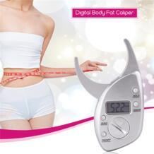 Цифровой измерение жира в организме суппорт Электрический Спортивная жира монитор складка кожи Толщина здоровье и фитнес-анализатор ЖК-дисплей Дисплей 0 CkeyiN 33008822360