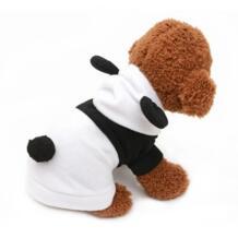Милая одежда для кошки костюмы для собак Костюмы флисовая Пижама с дизайном «панда» для щенок котенок прикольные толстовки Одежда весна-осень 20 IDEPET 32985916616