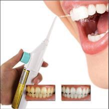 Дропшиппинг 1 шт. Портативный мощность вышивка крестом нить зубная водная струя зуб палочки без батареи зубные очищающий, отбеливающий Cleaner Kit MOONBIFFY 32889065701