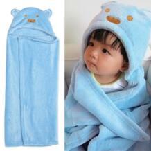 Newbron Детские спальные халаты зима весна мультфильм медведь Флисовое одеяло детская одежда для сна костюм детский халат с капюшоном банный халат пижамы No name 32966667436