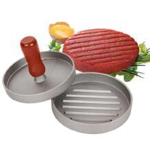 Деревянная ручка круглый форма гамбургер пресс Burger мясо говядины Пэтти Maker Плесень Кухня инструмент 12 см No name 32967433284