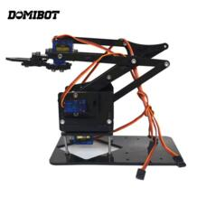 Domibot 4DOF монтаж акриловые Mechine рука робота с SG90 Пластик Шестерни сервопривода для робота DIY No name 32972455304