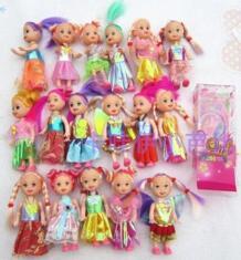Бесплатная доставка, 10 шт., хит продаж, игровой дом для девочек, подарок на день рождения, аксессуары (кукла + одежда) для 11 см, 29cme, игрушечная кукла Келли KIKIHAN 32349980850