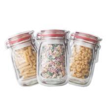 10 шт. Mason Jar узор Еда Saver хранения сумки набор кухонный Органайзер детская закуски свежий сумки для хранения продуктов сумки SAFEBET 32952231357