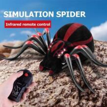 Моделирование дистанционное управление паук реалистичные RC Araneid блеск средства ухода для век с подвохом страшный игрушка детей Хэллоуин праздни VKTECH 32954830595